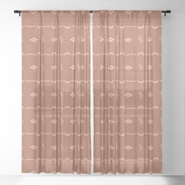 Adobe Cactus Pattern Sheer Curtain