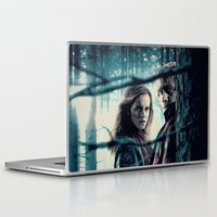 hermione Laptop & iPad Skins featuring H. Potter - Hermione & Ron by Juniper Vinetree