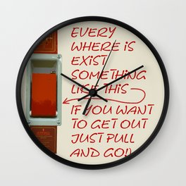 Just pull and go! Wall Clock