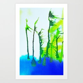 Tres Palmas Art Print