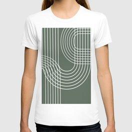 Minimalist Lines & Forest Green BG T-shirt