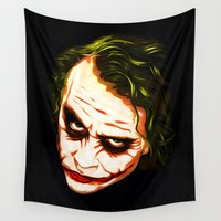 joker Wall Tapestries featuring Joker by William Cuccio aka WCSmack