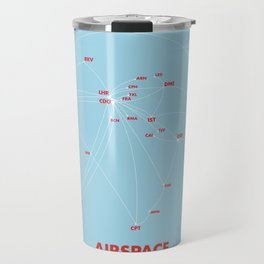 Air route and airport hub Airspace map Travel Mug