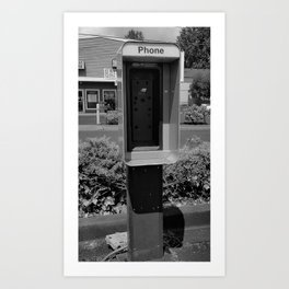 Where have all the pay phones gone? #4 Art Print