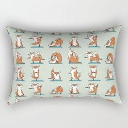Fox Yoga Rectangular Pillow