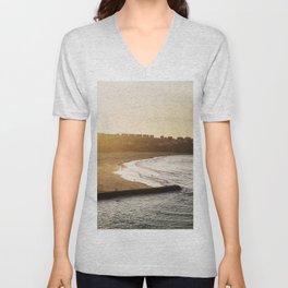 Beach at sunset Unisex V-Neck