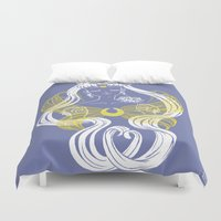 supergirl Duvet Covers featuring Serenity by Madoca