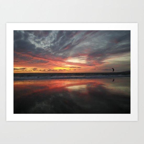 """HERE AND BELOW"" kitesurf . kite . surf Art Print"