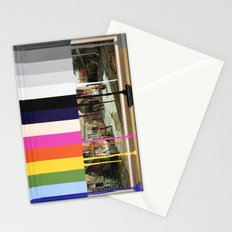 Garage Sale Painting of Peasants with Color Bars Stationery Cards