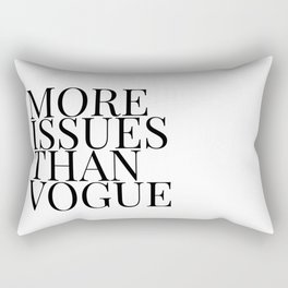 more issues Rectangular Pillow