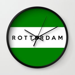 Rotterdam city Netherlands country flag name text Wall Clock
