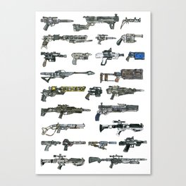 The Force Awakens firearms Canvas Print