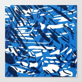 Blue is the New Black Canvas Print