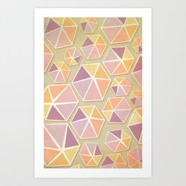 Gemstone Love Art Print