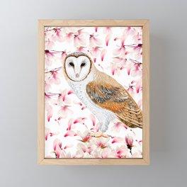 Cherry Owl Framed Mini Art Print