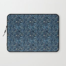 Aqua Blue Aurora Borealis Close-Up Crystal Laptop Sleeve