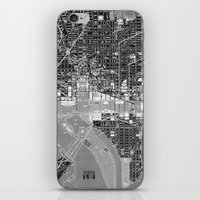 washington dc iPhone & iPod Skins featuring Washington DC Street Map by Color and Form