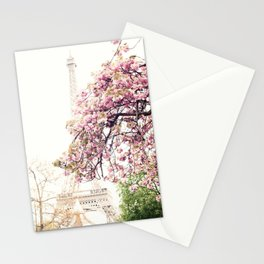Cherry blossoms in Paris, Eiffel Tower II Stationery Cards