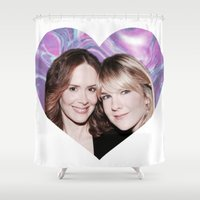 ahs Shower Curtains featuring Sarah Paulson and Lily Rabe AHS Freakshow by IrasHorrorStory