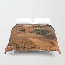 Desert paradise on the edge of Hell - Sandstorm Duvet Cover