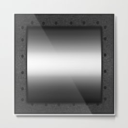 Faux steel plate with rivets Metal Print