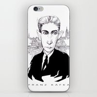 kafka iPhone & iPod Skins featuring Franz Kafka by Howard Coale