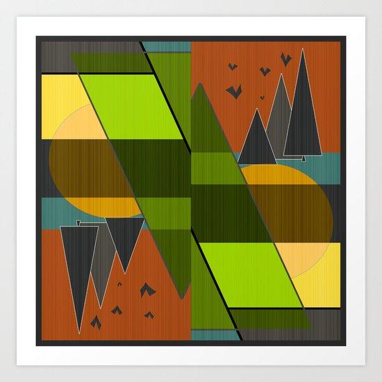 Abstraction.  Art Print