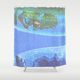 Top Gun Screenplay Print Shower Curtain