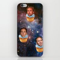 nicolas cage iPhone & iPod Skins featuring Cage Nebula by Jared Cady