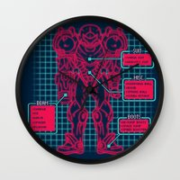 suit Wall Clocks featuring Varia Suit by MeleeNinja