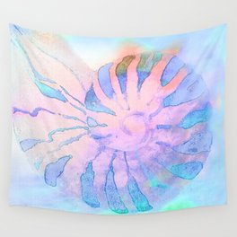 NAUTILUS CONCH SEA SHELL IMPRESSION Wall Tapestry