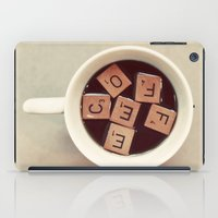 coffee iPad Cases featuring COFFEE by elle moss