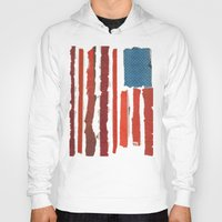 american flag Hoodies featuring American Flag  by Robert Payton