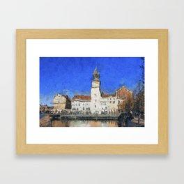 Prague Buildings, van Gogh Style Framed Art Print