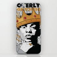 kendrick lamar iPhone & iPod Skins featuring King Kendrick - Overly Dedicated by Gagegfx