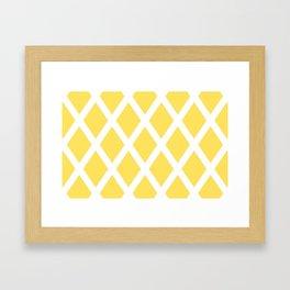 Yellow Diamonds Framed Art Print