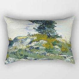 The Rocks by Vincent van Gogh Rectangular Pillow