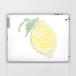 Citrus Fruit illustrated with cities of Florida State USA Laptop & iPad Skin