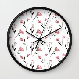 Romantic Floral Wall Clock