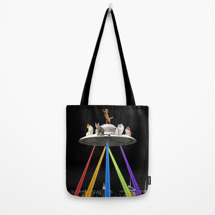 CAT INVADERS Tote Bag