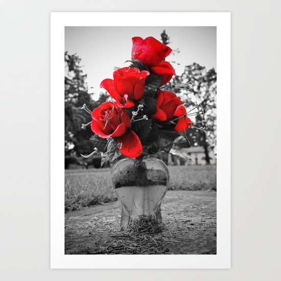 Red is permanence  Art Print