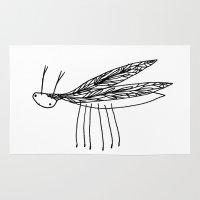 beetle Area & Throw Rugs featuring beetle by kamilah