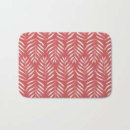 Palm trees in red Bath Mat