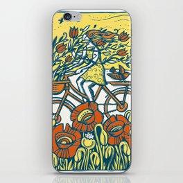 Bike Blossoms iPhone Skin