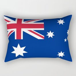 The National flag of Australia, authentic version (color & scale 1:2) Rectangular Pillow