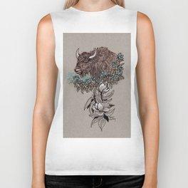 Buffalo Wildflower and Magnolias Biker Tank