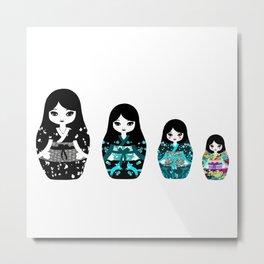 Japanese Matriochka Metal Print
