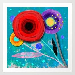 Ranunculus Flowers, Spring and Summer Art Print