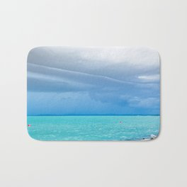 Before summer storm at a turquoise lake Bath Mat