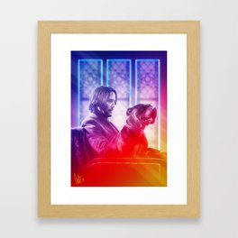 One Man and His Dog Framed Art Print
